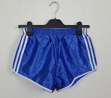 VINTAGE Blu Lucido ATHLETIC SPORTS Sprinter Pantaloncini IBIZA High Cut Retrò in buonissima condizione UK S