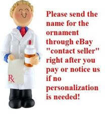 PRESCRIPTION PILL PHARMACY PHARMACIST BOY PERSONALIZED CHRISTMAS TREE ORNAMENT
