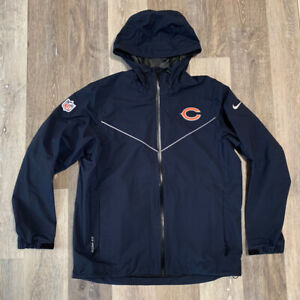 Men's Nike NFL Chicago Bears On-Field Storm Fit Coaches Jacket Blue Size Large