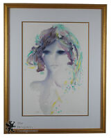 "Shan Merry ""Magicia"" Signed Lithograph Print Abstract Portrait Woman #147/650"