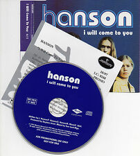 """HANSON """"I WILL COME TO YOU"""" RARE PROMO CD SINGLE WITH GERMAN INFO CARD / AS NEW"""