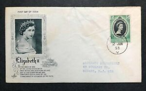 Aden 1953 Coronation FDC First Day covers