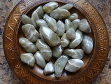PRASIOLITE 1/4 Lb Gemstone Specimens Tumbled Wiccan Pagan Metaphysical