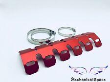 Red Motorcycle Exhaust Muffler Pipe Heat Shield Cover Heel Guard For Dirt Bike