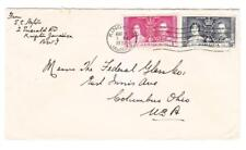Jamaica CORONATION ISSUE-SG#118,#119-KINGSTON AUG/6/1937-to USA-minor