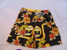 Corona Extra Board shorts size XL brown with yellow flowers