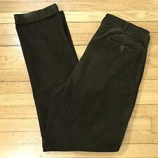 Polo Ralph Lauren Dark Green Pleated Corduroy Pants Mens Size 38Tx38 38x38