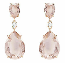 Swarovski Vintage Drop Pierced Women's Earrings - Pink, Rose Gold Plated