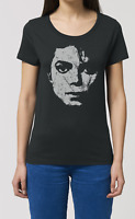 Michael Jackson Womens ORGANIC Cotton T-Shirt Music Legend Pop New Top Gift Eco