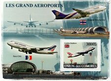 British Airways (BA) AIRBUS 318-100 Aircraft London Heathrow Airport Stamp Sheet