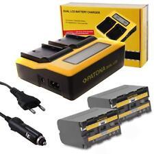 PATONA Profi Set Dual Ladegerät + 2 Akku NP-F970 NP-F960 6600mAh Li-ion ACCU