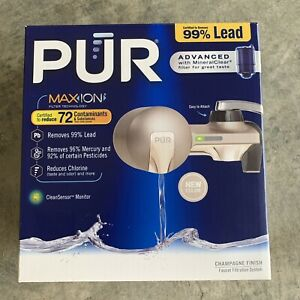 Pur Faucet Filtration System Max Ion Filter Technology Champagne Finish PFM360F