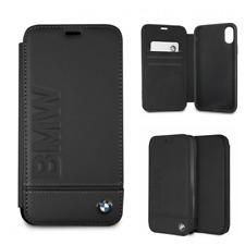 BMW iPhone Xr Leder Cover Book Case Tasche LOGO schwarz Schutz Etui Handyhülle