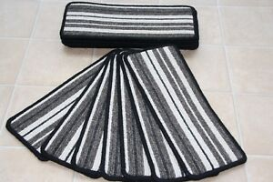 14 Stripe Carpet Stair Case Treads Vouge 329 Stripe 14 Large Stripey Stair Pads