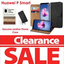 15x BULK SALE Huawei P Smart (2017) GENUINE LEATHER Phone Flip Case Cover Wallet