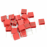 20 Pcs X2-104K AC 310V 0.1uF Polypropylene Film Safety Capacitors MPX MKP Red
