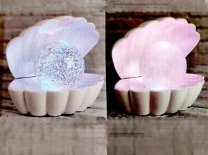 Freestanding Mood Light Enchanted Perl On Shell Colour Changing Battery Operated