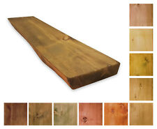Massivholz Wandregal - Wandboard mit Baumkante 17-20cm tief - Individualisierbar