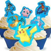 Cakeshop 12 x PRE-CUT Pokemon Stand Up Edible Cake Toppers
