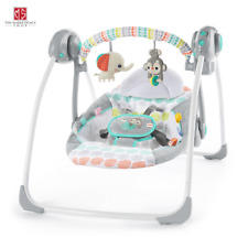 Bright Starts Whimsical Wild Portable Baby Swing 2-Position Recline Automatic