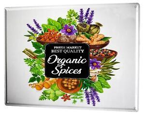 Tin Sign Retro Herbs Spices