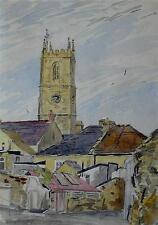 A Village in Rural England c1950s Watercolour Ralph Hartley (British,1926-1988)