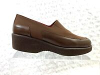 Women's Donald J. Pliner Chele Brown Stretch Fabric/Leather Wedge-Size 7.5M