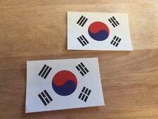 TWO! 2X3 3X2 South Korean Korea Flag Bumper UV Vinyl Outdoor Sticker Decal