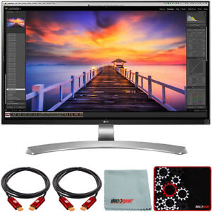 "LG 27"" 4K UHD IPS LED Monitor 3840 x 2160 16:9 w/ USB Type-C + Mouse Pad Bundle"
