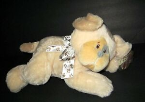 """New First & main Pup Adorable Puppy Dog #3754 Soft plush stuffed 12"""" NWT"""