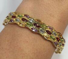 """Topaz Cuff Sterling Silver 7 - 7.49"""" Length Fine Bracelets"""