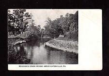 Postcard Eatonville Pa Bowmans Creek Bridge Tunkhannock Wyoming County Pa