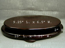 Chinese Traditional Wooden Oval Stand / Pedestal for Display