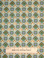 Quiltscapes Sunflower Harvest Green Elizabeth's Studio Cotton Fabric 2 Piece Lot