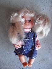 "Vintage Plastic Simba China Small Blonde Hair Character Girl Doll 4"" Tall"