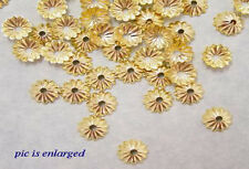 1000 Gold Plated Scalloped Bead Caps Beadcaps 6 MM