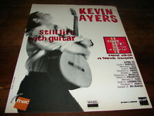 KEVIN AYERS - PUBLICITE / ADVERT STILL LIFE WITH GUITAR