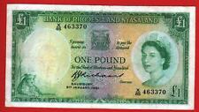 RHODESIA AND NYASALAND 1£ 1961  P21b RARE