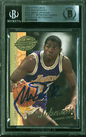 Lakers Magic Johnson Signed 2000 UD 20th Anniversary #UD7 Card BAS Slabbed