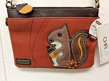 Chala Squirrel Mini Crossbody Bag Small Convertible Purse Orange New