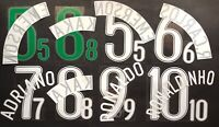 BRASILE HOME/AWAY NOME+NUMERO UFFICIALE FIFA WC 2006 OFFICIAL NAMESET PLAYER SZ