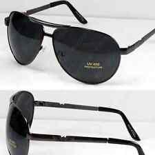 Mens Pilot Aviator Sunglasses Shades Retro Fashion Designer Wrap Large Classic