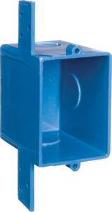 Carlon  2.92 in. Rectangle  1 Gang  PVC  Outlet Box  Blue