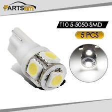 5pcs White 5-5050-SMD 161 194 LED Bulbs for Clearance Cab Marker Light Lamp 12V