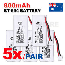 5x NEW 800mAh 2.4V Cordless Telephone Battery For Uniden BT-694 BT-694S NI-MH