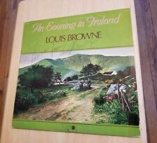 LOUIS BROWNE an evening in Ireland AUTOGRAPHED/SIGNED Irish Stereo R 33000 ALBUM