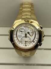New With Tags Gold Seiko Coutura Kinetic Chronograph SNL038