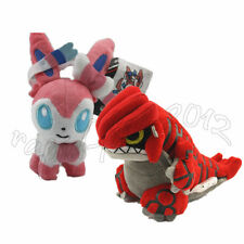 2PCS Pokemon Groudon & Sylveon Plush Doll Figure Soft Stuffed Toy Gift US Ship
