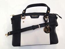 Liu Jo Damenhandtasche Boston Bag Kunstleder Schwarz/Weiß N16245E0087-03Q54