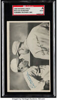1936 R313 National Chicle LEO DUROCHER Signed SGC Authentic AUTO NY Giants HOF